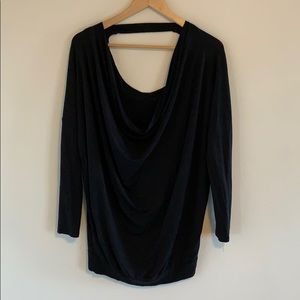 Wilfred Black Long Sleeved Cotton Shirt.